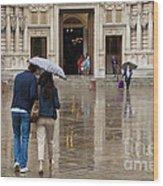 Rain In London Wood Print by Donald Davis