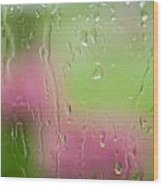Rain Soaked Hydrangeas - Yechial Orgel Wood Print