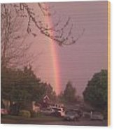 Rainbow 3 Wood Print