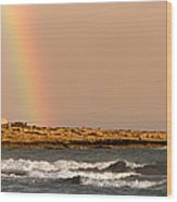 Rainbow By The Sea Wood Print by Stelios Kleanthous