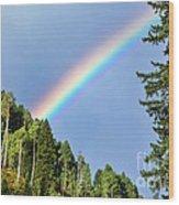 Rainbow Closeup Wood Print