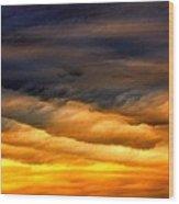 Rainbow Clouds Wood Print