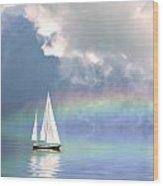 Rainbow Cruise Wood Print