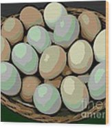 Rainbow Eggs Wood Print