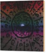Rainbow Electric Baby Bump Wood Print