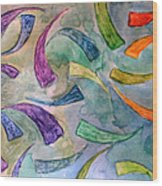 Rainbow Fish Wood Print