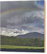 Rainbow Frames Ascutney Mountain Wood Print