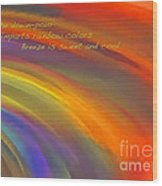 Rainbow Haiku Wood Print