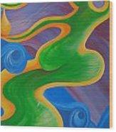 Rainbow Healing For Family Wood Print