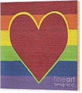 Rainbow Love Wood Print by Kristi L Randall