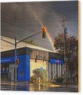 Rainbow On Bank Wood Print