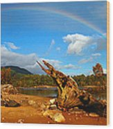 Rainbow Over Affric Wood Print