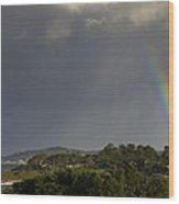 Rainbow Over Carmel Wood Print