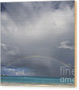 Rainbow Over Emerald Bay Wood Print by Dennis Hedberg