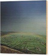 Rainbow Over Fields In Slieve Gullion Wood Print