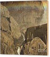 Rainbow Over Lower Bridal Veil Wood Print