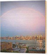 Rainbow Over New York City II Wood Print