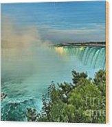 Rainbow Over Niagara Wood Print