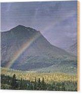 Rainbow Over Willmore Wilderness Park Wood Print