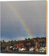 Rainbow Over Winnepesaukee Wood Print