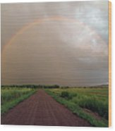 Rainbow Wood Print by Pat Gaines