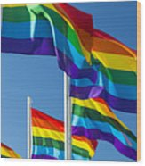 Rainbow Pride Flags Wood Print