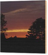 Rainbow Sherbet Sunset Wood Print