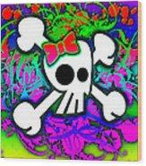 Rainbow Skull 1 Of 6 Wood Print