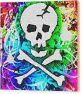 Rainbow Skull 3 Of 6 Wood Print