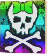 Rainbow Skull 4 Of 6 Wood Print