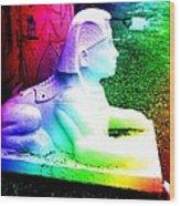 Rainbow Sphinx Wood Print