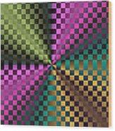 Rainbow Squares Wood Print