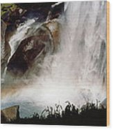 Rainbow Under Vernal Falls 2 Wood Print