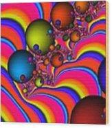 Rainbow Universe Wood Print