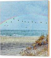 Rainbows And Wings II Wood Print