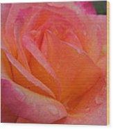 Raindrops On Roses Nine Wood Print