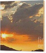 Rainey Sunset Wood Print