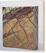 Rainforest Green Marble Wood Print