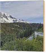 Rainier Journey Wood Print by Mike Reid