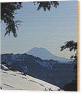 Rainier Wood Print