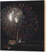 Raining Fire Wood Print by David Hahn