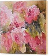 Raining Roses Wood Print