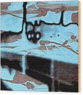 Rainy Day - Serigraphic Art Silhouette Wood Print by Arte Venezia