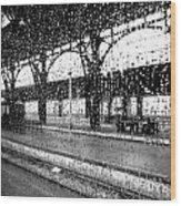 Rainy Departure Wood Print