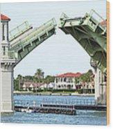Raised Bridge Wood Print by Kenneth Albin
