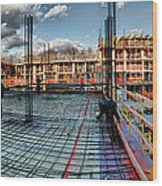 Raising Bedford Wood Print