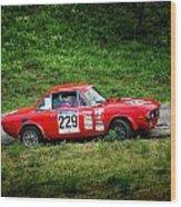 Rally Lancia 02 Wood Print