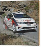 Rally Race Wood Print