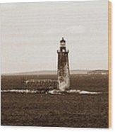 Ram Island Ledge Lighthouse Wood Print