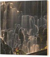 Ramona Falls  Wood Print by Ulrich Burkhalter
